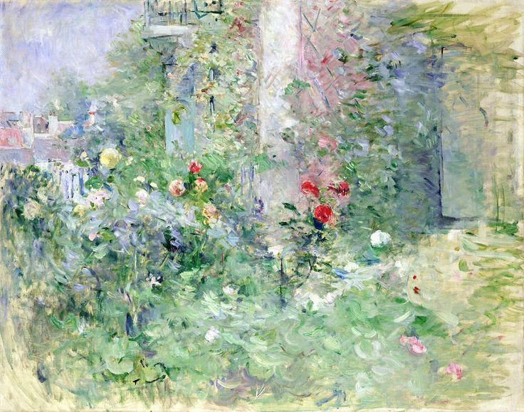 Cool The Garden at Bougival Berthe Morisot
