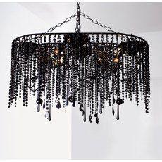 beaded black chandelier