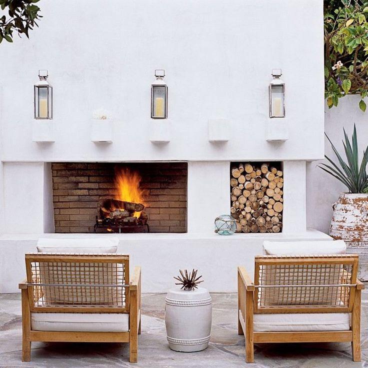 Les 25 meilleures id es concernant chemin es en briques for Foyer exterieur en brique