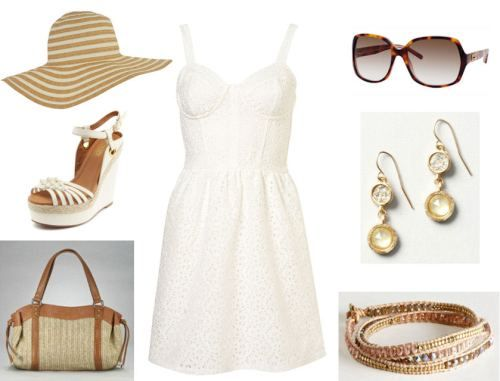 White Sundress Outfit