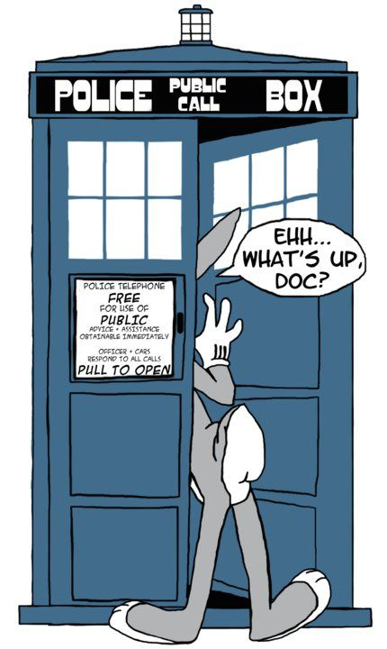 I was watching a lot of Looney Tunes and wanted to do a Doctor Who mash-up.