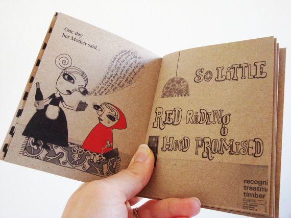Little Red Riding Hood: Zine 6 00, Minis Books, Little Red, Hoods Zine, Illustrations Books, Art, Diy Bookca, Red Riding Hoods, Hoods Books