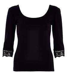Black crochet trim backless ballerina top £16.00