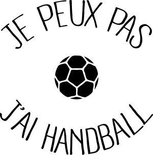 personnaliser tee shirt Je peux pas j ai Handball