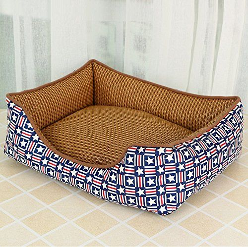 Cococina Pet Dog Cat Bed Cushion With Rattan Breathable Cooling