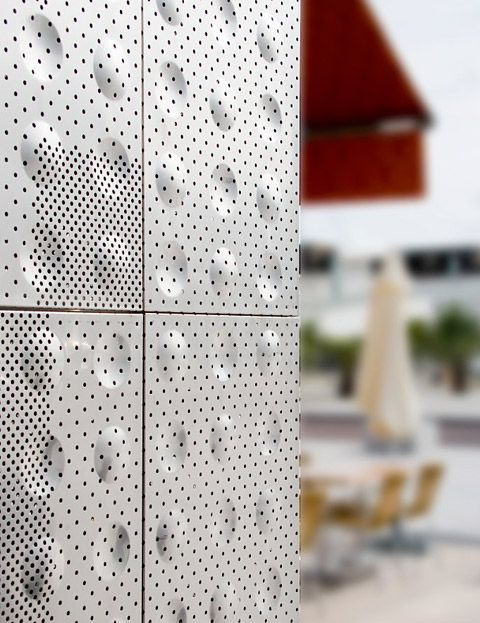 Perforated, embossed refined   Architecture at Stylepark