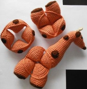 Amamani - Animal Crochet Amish Puzzle Balls. Love this giraffe.