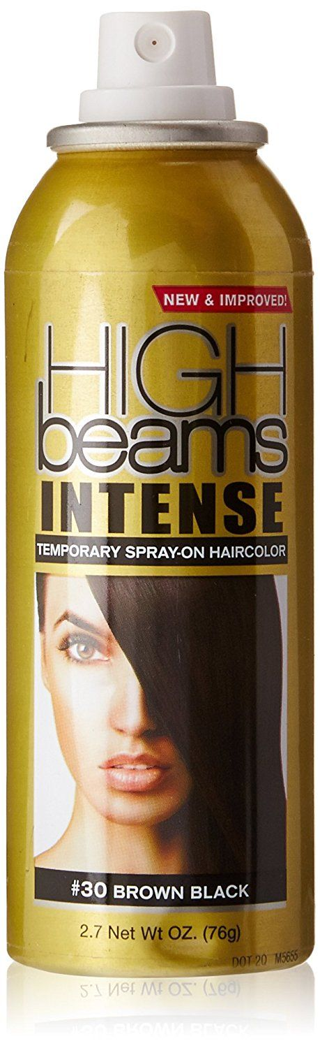high beams Intense Temporary Spray on Hair Color, Brown Black, 2.7 Ounce >>> You can find more details by visiting the image link.