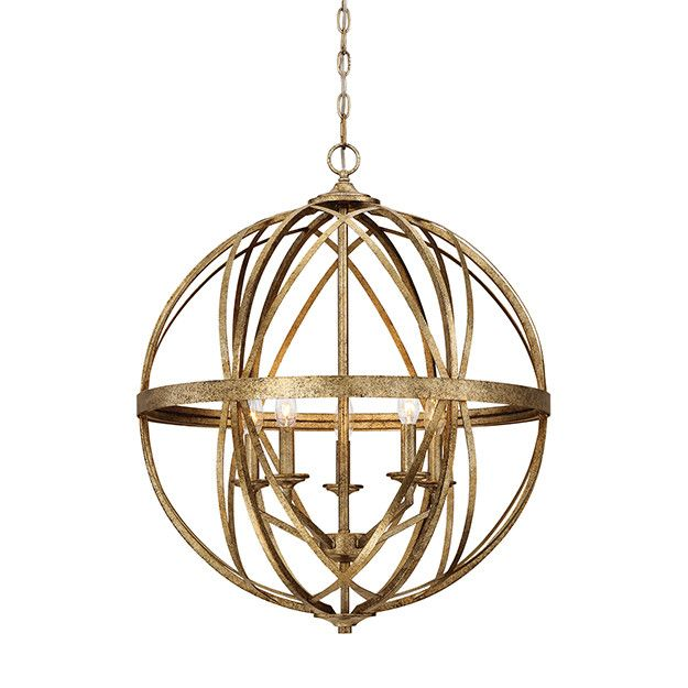 - Overview - Details - Why We Love It You know we live for the hunt; so we squealed with excited when we discovered the Lakewood Orb. The distressed gold finish is one of those chameleon finishes that