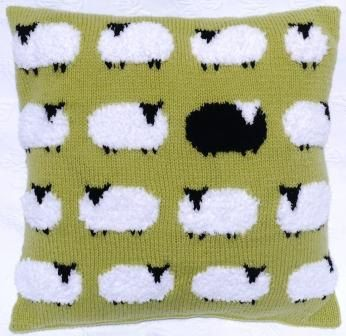 Sheep Cushion Knitting Pattern Pillow Knitting by iKnitDesigns