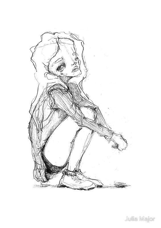fat drawings Cute girl