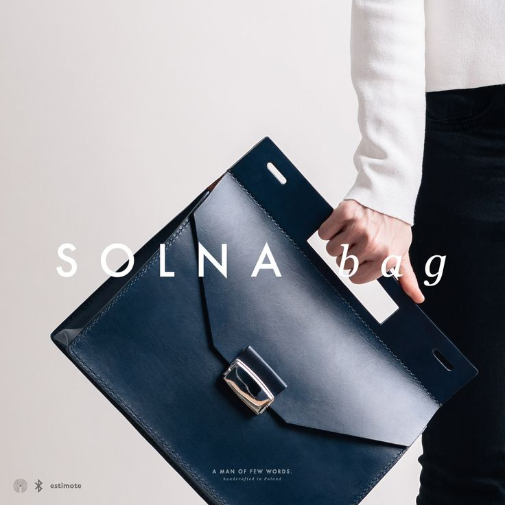 SOLNA bag. Handcrafted from full-grain, veg-tan leather.