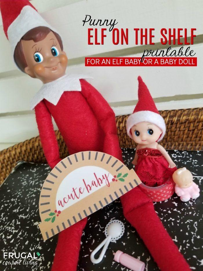 Punny Acute Elf Baby Printable Elf On The Shelf Idea For A Cute