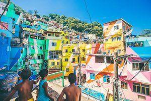 Rio favelas: Santa Marta Favela Painting project