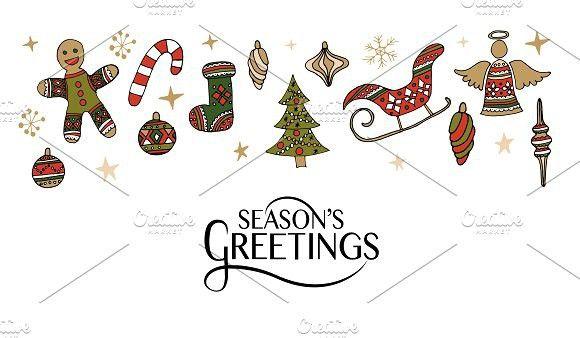 Season S Greetings Card Seasons Greetings Card Greeting Card Template Card Templates