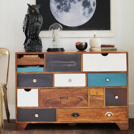 The Freud Chest featuring the moon canvas  - From the Newgate Art House at Newgate Clocks