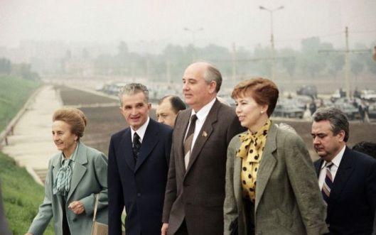 Nicolae Ceausescu USSR Gorbachev