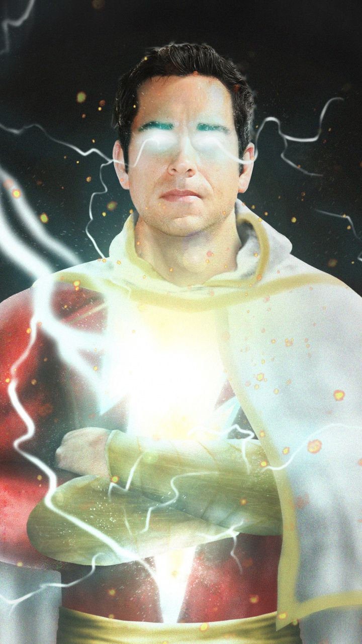 Shazam Movie Poster Superhero Dc Art 720x1280