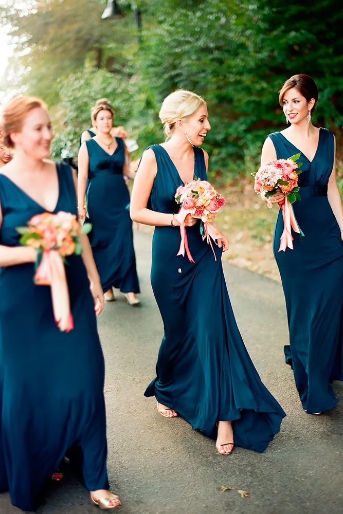 Best 25+ Dark teal bridesmaid dresses ideas on Pinterest ...
