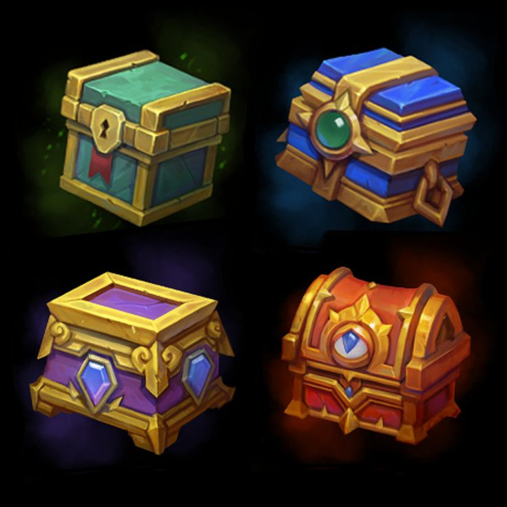 Daily chest icons for Action RPG MOBA game Juggernaut Wars - https://jw.my.com/