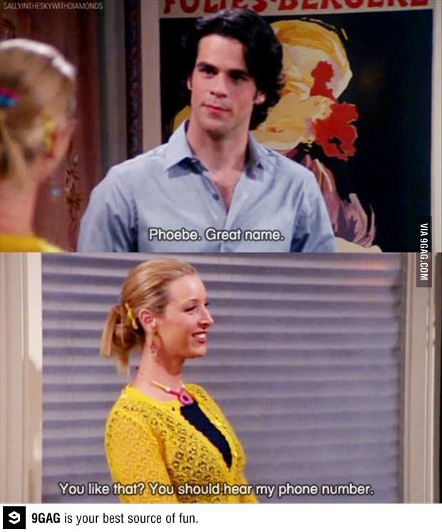 LOL phoebe's pick-up lines