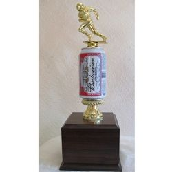 Fantasy Football Beer Can Trophies SKU #: HA114  Trophypartner.com  This funny trophy is great for the biggest loser or drinker of the season!!!