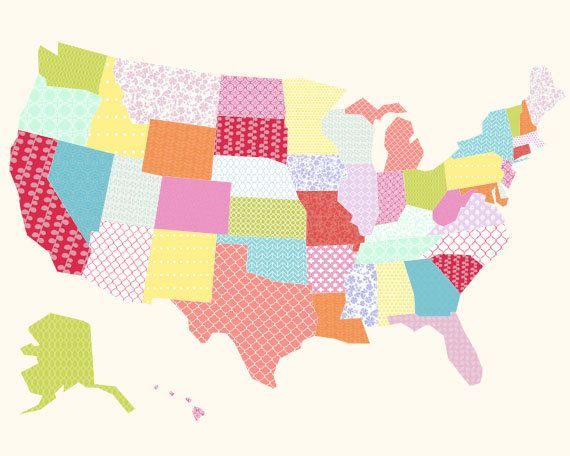 Best The United States Of Creative Images On Pinterest - Us map collage