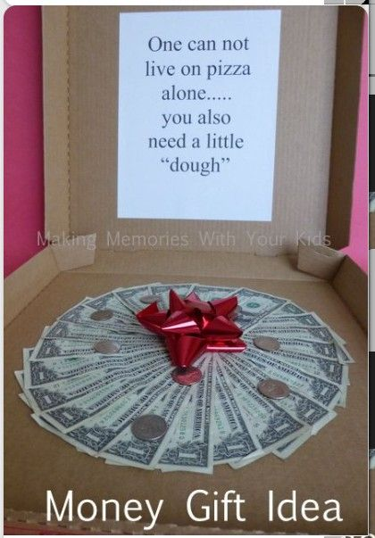 Another interesting way to give money - idea for this year 20 $1, 15 pennies - 2015!