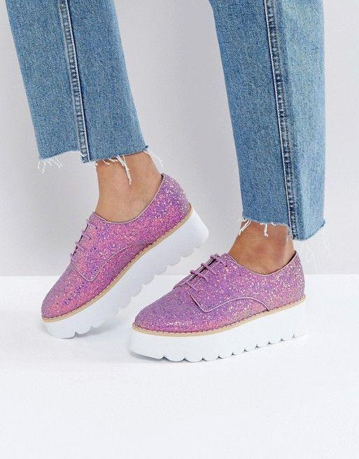 ASOS | ASOS - MISFIT - Chaussures plates épaisses à paillettes