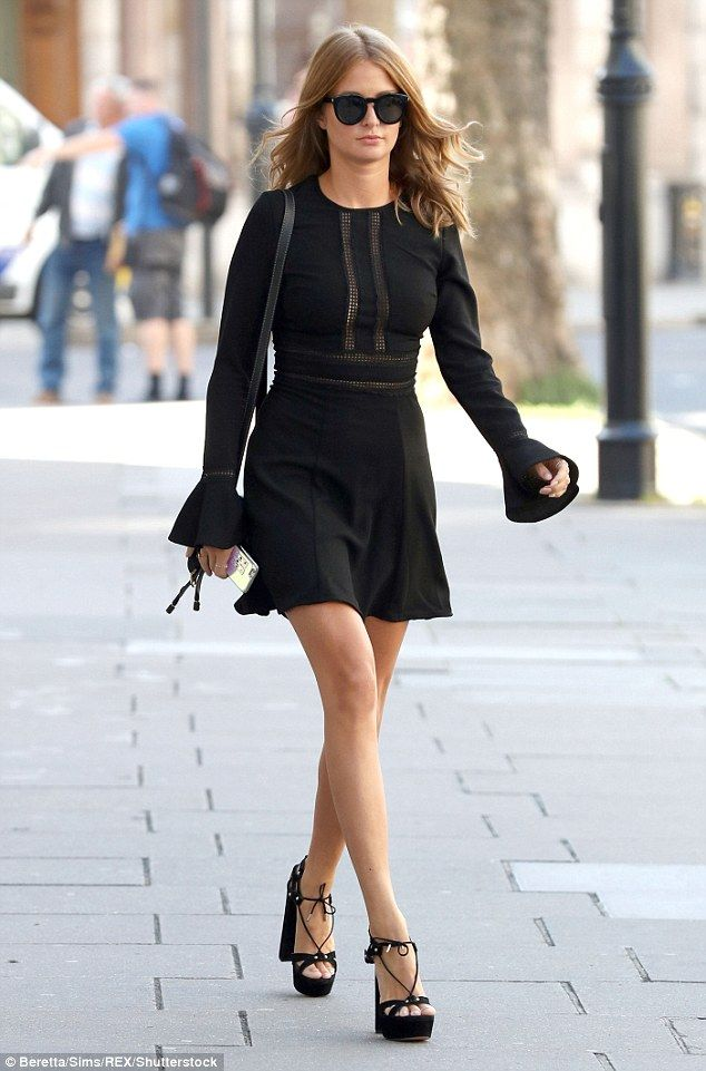 Hair she is: Millie Mackintosh proved to be her own best advert as she headed to the launch of her hair care range with John Frieda in London on Wednesday