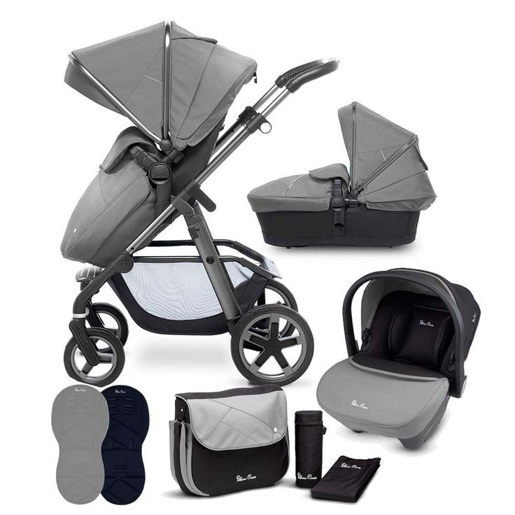 The Silver Cross Pioneer Graphite/Silver is the Perfect 3-in-1 solution for modern life, with a Carrycot, reversible Seat Unit & Travel System compatibility. Buy yours at Pramworld today!