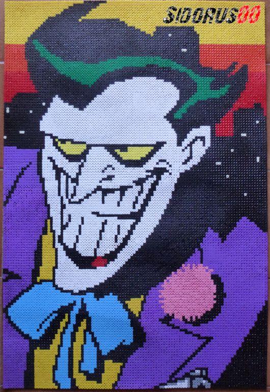 Joker animated serie Hama perler beads by Sidorus00 (H= 75 cm L= 50 cm)