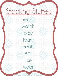gift giving : stocking stuffers