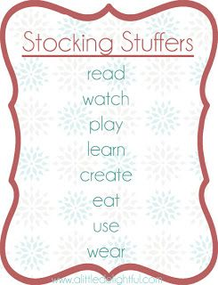 This is perfect since hubby and I are only doing stockings this year :)