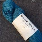 baby alpaga, col turquoise 53, 100% baby alpaga, BC Garn, écheveau de 50g