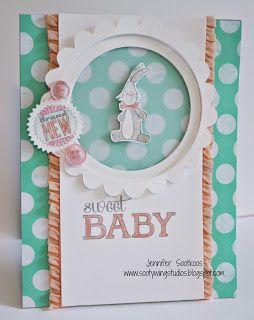 Sootywing Studios: Baby Shower Card, Baby We've Grown, Stampin' Up!, My Digital Studio