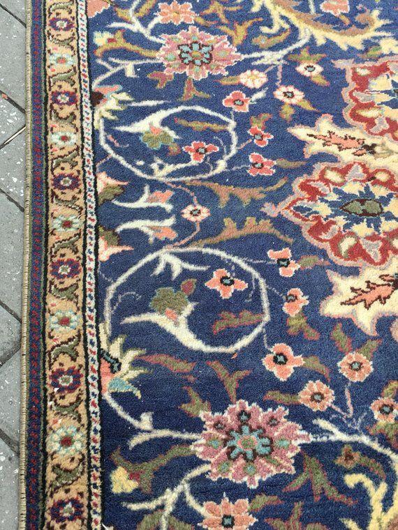 Great Blue Oushak Rug 4 11x8 6 Ft Turkish Rug Vintage Rug Low Pile Trending Rug Rug Bohemian Rug Stylish Decorative Rug Bohemian Rug Cappa Vintage Runner Rugs Durable Rugs Anatolian Rug