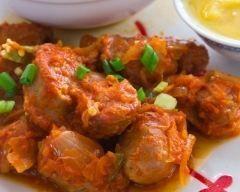 Rougail saucisses de la Réunion (facile, rapide) - Une recette CuisineAZ