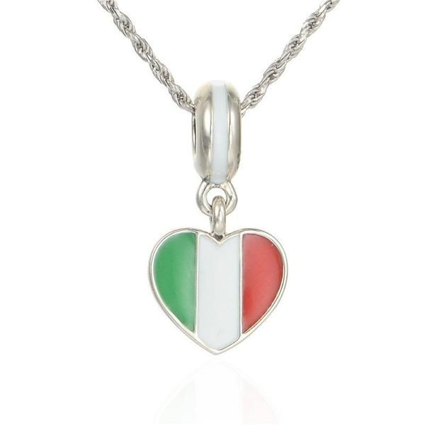 Italy Heart Flag Necklace