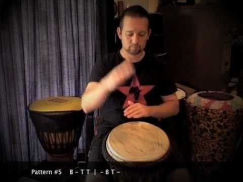 Djembé patterns for beginners by Matt Hains of Drummer Boy ZA. I really like how he breaks down each pattern, slow at first and then faster while the pattern is replayed on a ticker below. Well done!