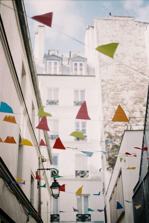 bunting: France Travel, Blue Sky, Paris Travel, Color, Theme Parties, Inspiration Photography, Paris France, Outdoor Parties, Beautiful Queen