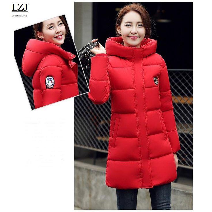 LZJ Wadded Winter Jacket Women Cotton Long Jacket 2016 Fur Slim Padded Coat Outwear High Quality Warm Chaquetas Parka Feminina #Affiliate