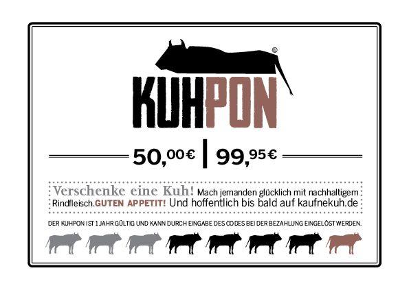 Verschenke ehrliches Rindfleisch mit einem KuhPon von www.kaufnekuh.de.