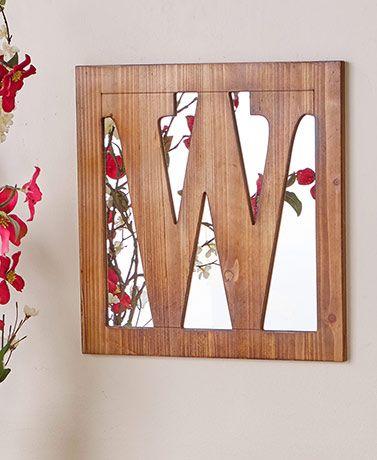 Wooden Monogram Mirrors