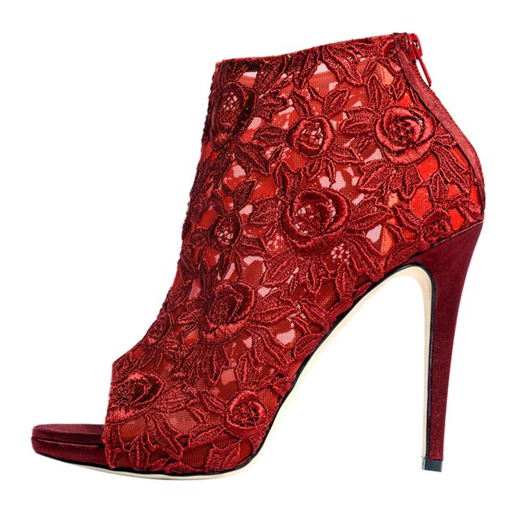 MARY KYRI | SARAFINA BOOTS | BORDEAUX RED - Italian-Made Designer Footwear on Brands Exclusive♥♥