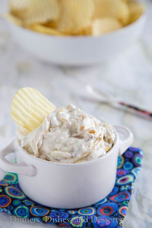 Caramelized Onion Dip - a homemade onion dip that is so much better than any store bought alternative!