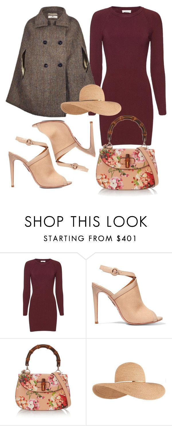 """Cheltenham Horse Racing Festival"" by victoriaxo97 ❤ liked on Polyvore featuring A.L.C., Aquazzura, Gucci and Eugenia Kim"