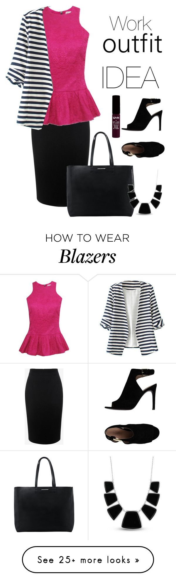 """Work outfit idea"" by anja-jovanovich on Polyvore featuring Alexander McQueen, WithChic, MANGO, Tory Burch, Karen Kane and NYX"