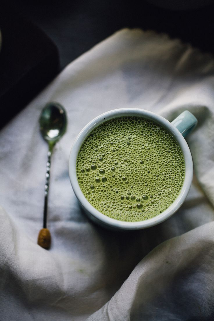 March | Verdant Awakenings . Matcha Almond Milk Latte