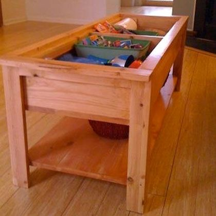 Trap Door Table – Keep toys in the living room, but hide them in the coffee tabl… Todd Martin